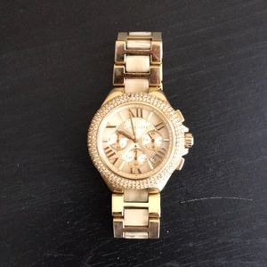 Michael Kors Gold Stone Embroidered Watch